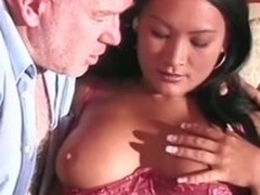 Grey challenge gets a blowjob distance from Asian cutie