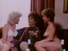Retro lesbian sex and erotic triplet