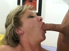 Luscious mature blond receives picked up on the street and fucked hard by two guys