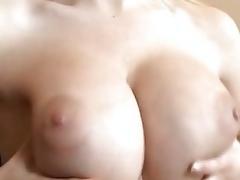 Busty euro playgirl Darina Vanickova milks meaty cock into hungry mouth