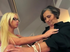 Youthful Teen & Granny Lesbians