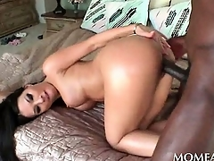 Lonely housewife pussy banged hardcore by a black stud