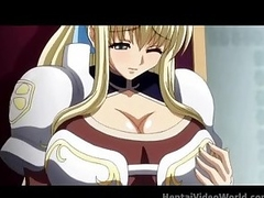 Huge boobs fill this venereal hentai clip