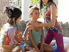 Fresh lesbo nubiles