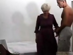 Grandma acquires deep fucked by a young load of take a crap