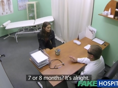 Sexy hotty less large breasts acquires doctors treatment previous to learning that infant can rain