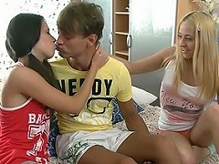 Its a passionate and wonderful teenage threesome scene with Anabela and...
