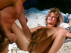 Appealing classic sex model Ginger Lynn screwed hard