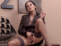 Horny Ava Addams gives her oozing bawdy cleft a fingering