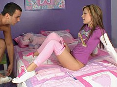 Cute legal age teenager acquires hardcored in her all pink room