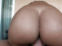 Large ass ebony playgirl with piercing teats gets her beaver rammed