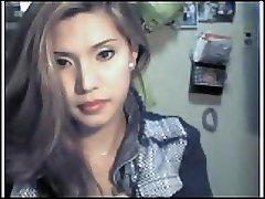 Asian hotty bare on webcam