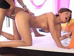 Fascinating European Laura acquires screwed in her romantic pink room