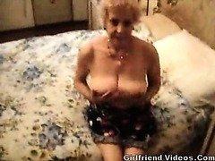 Breasty Granny Undressing