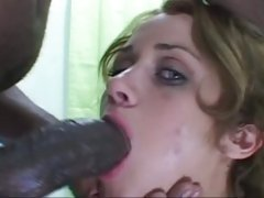 Raunchy brunette takes a massive prick down her mouth
