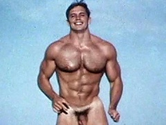 Very sexy & muscular gay model positions for the camera naked...