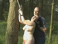 Chubby whore receives poison ivy on her nipps and muff whilst that babe is...