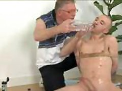 Kinky old man and fastened bald twink