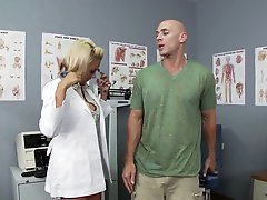 Blond Doc Briana Blair Gets a Thick Facial In High Heels