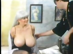 Retro foreplay porn with giant love melons chick