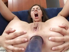Porn pro Monica takes huge dick in the gazoo and and loves every bit of it
