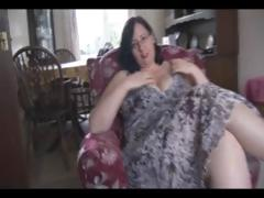 Fat aged dark hair with biggest marangos and wazoo sticks dildo in her cum-hole