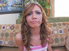 Double penetration grey eyed Princess. Nice facial cumshot