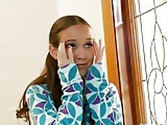 Gal tiny teen Amai Liu get 2 giant schlongs