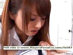 Akiho Yoshizawa from idol69 lascivious asian nurse likes to do blowjob