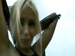Sexy blonde, Oana Oprea takes a monster dark pecker in her booty
