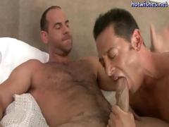 Horny gay chap can't live without slurping on a large jock and then getting drilled in his ass