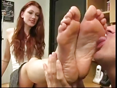 Soles licking