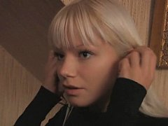Innocent blonde Swedish teen and her young guy