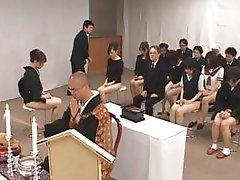 Oriental girls go to church half naked part5