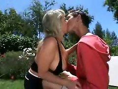 Mama son Sex in the garden