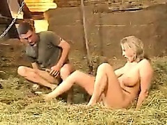 German threesome in the barn