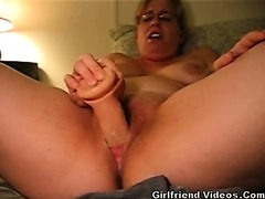 Fat GF Dildos Pussy Hard