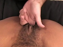 Get a astounding point of view shot of this bearded man as he gives this hairy...