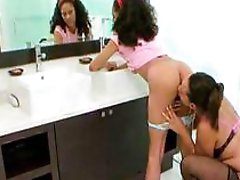 lesbian legal age teenager slit licked by a older experienced lesbian tongue