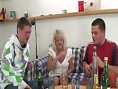 Drunk Granny Partying With Boyz