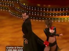 Boner-Inducing Chick Cheryl Burke Dancing In a Tight Leather Costume