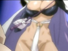 Chained anime girls gets punishment by lady-man Phantom Lady