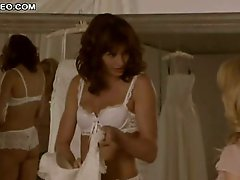 Gorgeous Bridget Moynahan In Sexy Lingerie Trying Her Wedding Costume