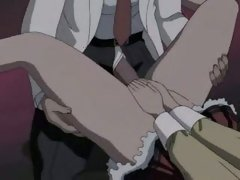 Hentai whore getting a giant cock rammed up her tiny wet gap