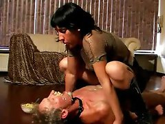 That babe spits food on slave face