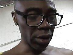 Cuckold blond in attractive underware sucks large chunky darksome cock
