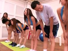 An Oriental decide yoga class turns into a decide sex class