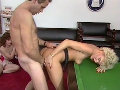 Billiard game is not enough for this nasty doxy Cara Lott to enjoy,...