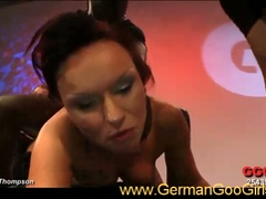 Nasty raven-haired german whore serving huge dongs in hot gangbanged
