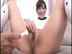 Youthful Japanese schoolgirl acquires her bushy cunt shaved and vibrated